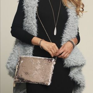 Handbags - Rose sequins holiday bag